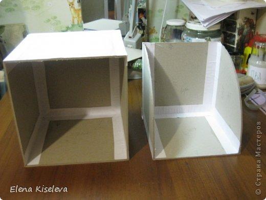Мастер-класс: Коробочки для хранения салфеток. МК. Бумага, Картон, Клей, Ткань. Фото 6