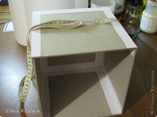 Мастер-класс: Коробочки для хранения салфеток. МК. Бумага, Картон, Клей, Ткань. Фото 7