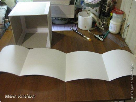 Мастер-класс: Коробочки для хранения салфеток. МК. Бумага, Картон, Клей, Ткань. Фото 9