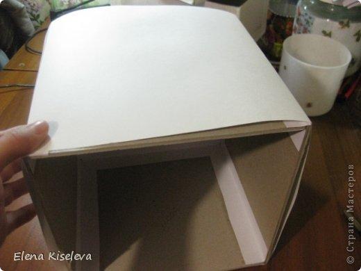 Мастер-класс: Коробочки для хранения салфеток. МК. Бумага, Картон, Клей, Ткань. Фото 8