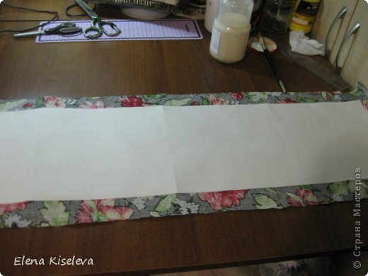 Мастер-класс: Коробочки для хранения салфеток. МК. Бумага, Картон, Клей, Ткань. Фото 10
