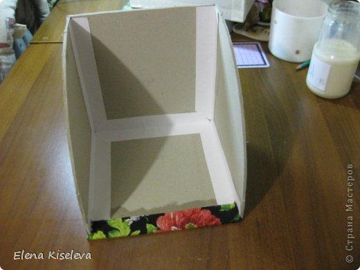 Мастер-класс: Коробочки для хранения салфеток. МК. Бумага, Картон, Клей, Ткань. Фото 18