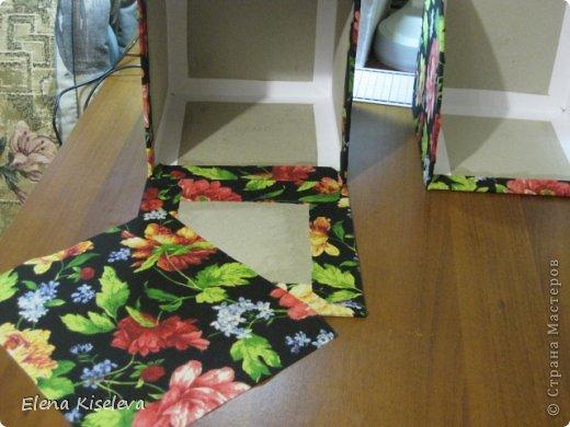 Мастер-класс: Коробочки для хранения салфеток. МК. Бумага, Картон, Клей, Ткань. Фото 22