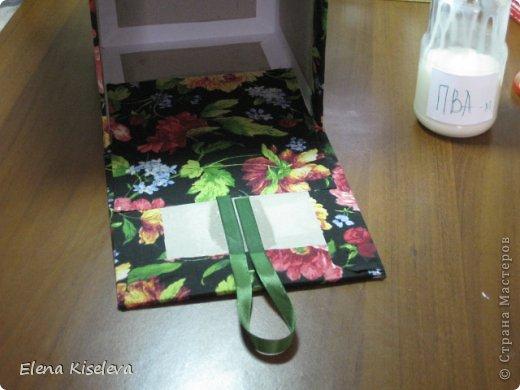 Мастер-класс: Коробочки для хранения салфеток. МК. Бумага, Картон, Клей, Ткань. Фото 24