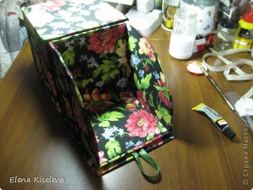 Мастер-класс: Коробочки для хранения салфеток. МК. Бумага, Картон, Клей, Ткань. Фото 30