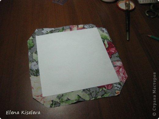 Мастер-класс: Коробочки для хранения салфеток. МК. Бумага, Картон, Клей, Ткань. Фото 16