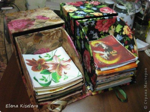 Мастер-класс: Коробочки для хранения салфеток. МК. Бумага, Картон, Клей, Ткань. Фото 2