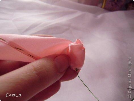 Мастер-класс Шитьё: Роза, как делаю её я, МК Ленты. Фото 11