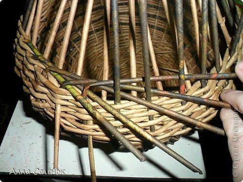 Мастер-класс, Поделка, изделие Плетение: Корзинка-чугунок Бумага газетная, Трубочки бумажные Отдых. Фото 17