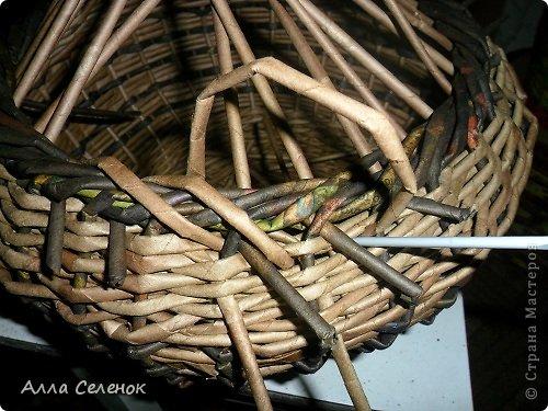 Мастер-класс, Поделка, изделие Плетение: Корзинка-чугунок Бумага газетная, Трубочки бумажные Отдых. Фото 23