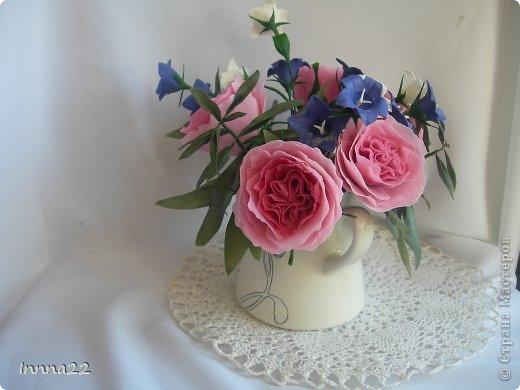Мастер-класс Лепка: Английская роза . МК. Фарфор холодный. Фото 1
