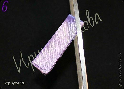Мастер-класс Цумами Канзаши: Будем делать крокусы? МК крокусов из ткани в технике Канзаши Ленты. Фото 7