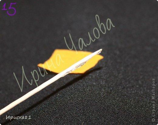 Мастер-класс Цумами Канзаши: Будем делать крокусы? МК крокусов из ткани в технике Канзаши Ленты. Фото 16