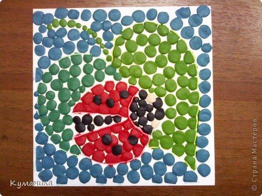 Картина, панно, рисунок Мозаика: Мозаика из пластилина  для малышей. Образцы. Пластилин. Фото 1