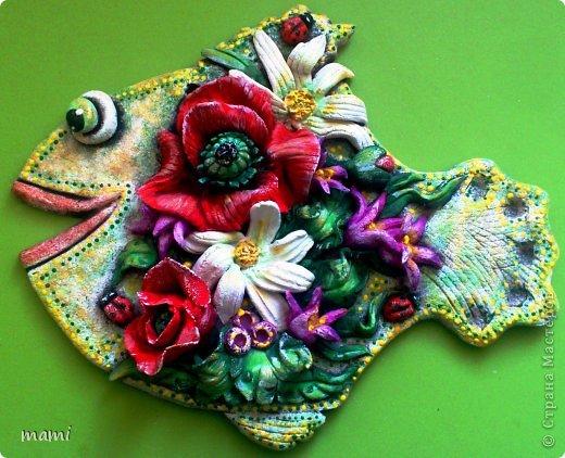 Поделка, изделие Лепка: РЫБОНЬКИ для прекрасных дам!!! Тесто соленое 8 марта. Фото 3