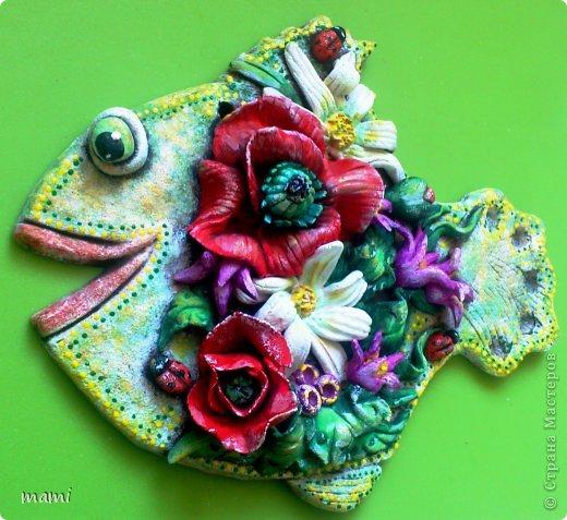Поделка, изделие Лепка: РЫБОНЬКИ для прекрасных дам!!! Тесто соленое 8 марта. Фото 4