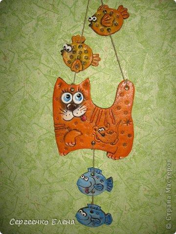 Поделка, изделие Лепка: Кошаки - повторюшки Тесто соленое 8 марта. Фото 5