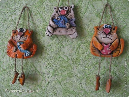 Поделка, изделие Лепка: Кошаки - повторюшки Тесто соленое 8 марта. Фото 4