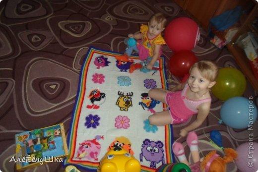 Презент от Голубки Вязание крючком: ПЛЕД детский Пряжа. Фото 1