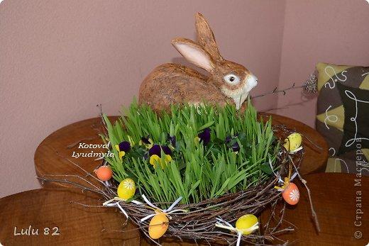 Скоро Пасха, во многих странах символом этого праздника является пасхальный заяц. Вот я и решила его сделать. . Фото 15