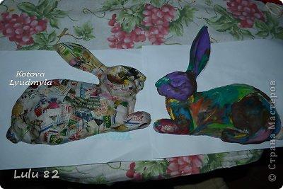 Скоро Пасха, во многих странах символом этого праздника является пасхальный заяц. Вот я и решила его сделать. . Фото 7