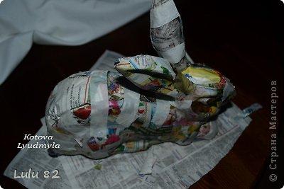 Скоро Пасха, во многих странах символом этого праздника является пасхальный заяц. Вот я и решила его сделать. . Фото 9
