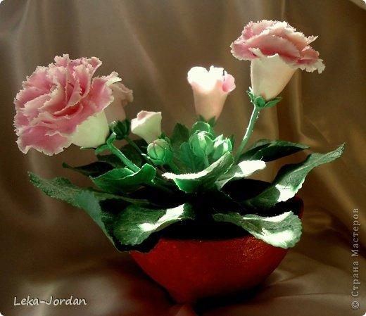 Мастер-класс Лепка: МК по лепке цветка глоксинии Часть первая Фарфор холодный. Фото 1