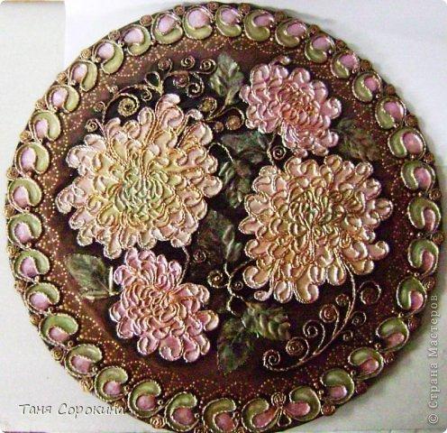 Поделка, изделие Бумагопластика: Хризантемы. Имитация перламутра. Пейп-арт. Салфетки
