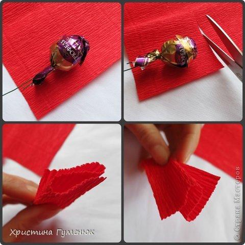 Мастер-класс, Свит-дизайн Бумагопластика: Цветы... как я их делаю... Бумага гофрированная. Фото 3