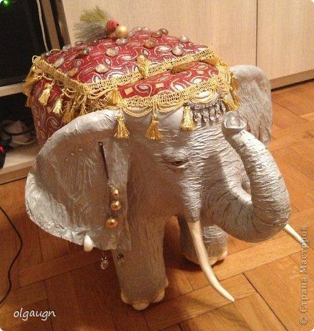 Мастер-класс Папье-маше: Слон-сундучок Бумага газетная. Фото 1