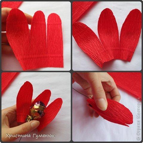 Мастер-класс, Свит-дизайн Бумагопластика: Цветы... как я их делаю... Бумага гофрированная. Фото 5