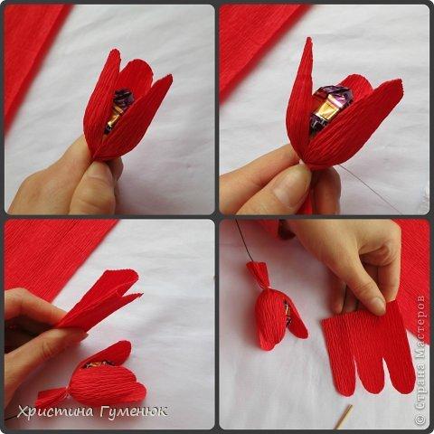 Мастер-класс, Свит-дизайн Бумагопластика: Цветы... как я их делаю... Бумага гофрированная. Фото 6