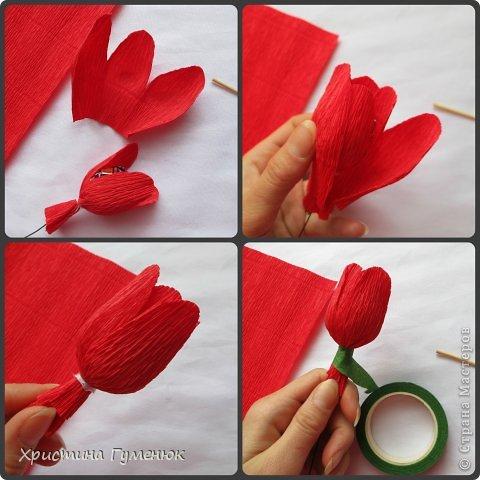 Мастер-класс, Свит-дизайн Бумагопластика: Цветы... как я их делаю... Бумага гофрированная. Фото 7