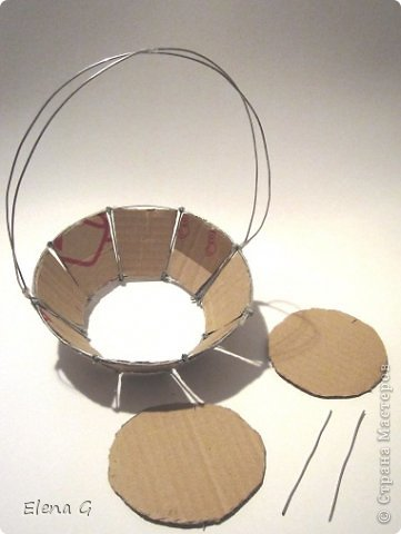 Декоративная корзинка своими руками из картона 8