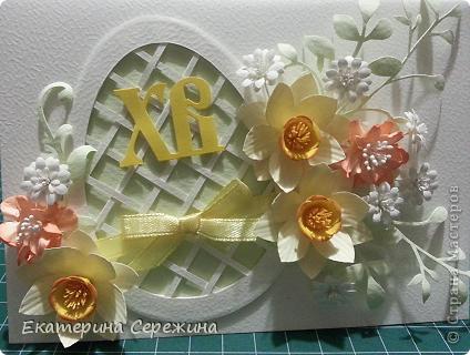 Мастер-класс Бумагопластика: Плетёное пасхальное яичко на открытку Бумага Пасха. Фото 1