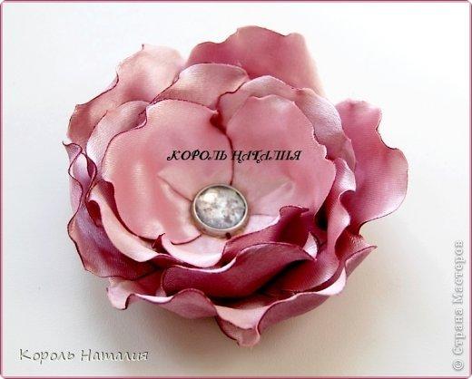 Мастер-класс, Украшение Цумами Канзаши: МК цветка с реверсивными лепестками Ленты. Фото 1