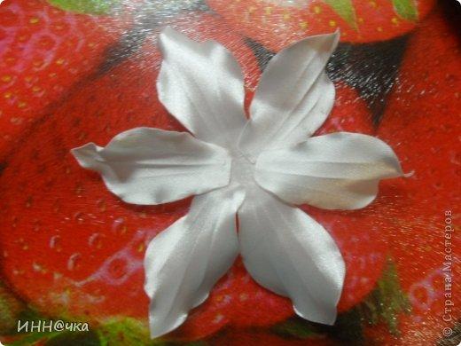Мастер-класс Цумами Канзаши: МК лилии Ленты, Ткань. Фото 15