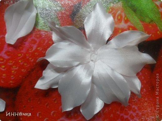 Мастер-класс Цумами Канзаши: МК лилии Ленты, Ткань. Фото 16