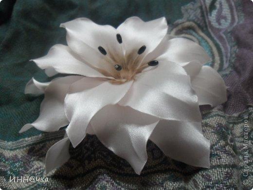 Мастер-класс Цумами Канзаши: МК лилии Ленты, Ткань. Фото 1
