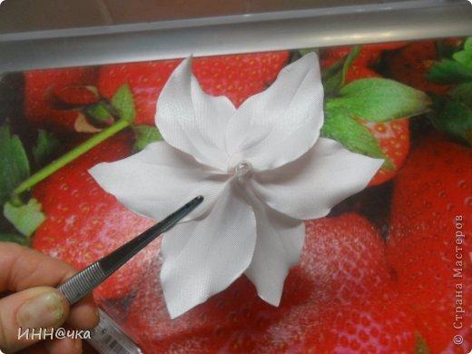 Мастер-класс Цумами Канзаши: МК лилии Ленты, Ткань. Фото 21