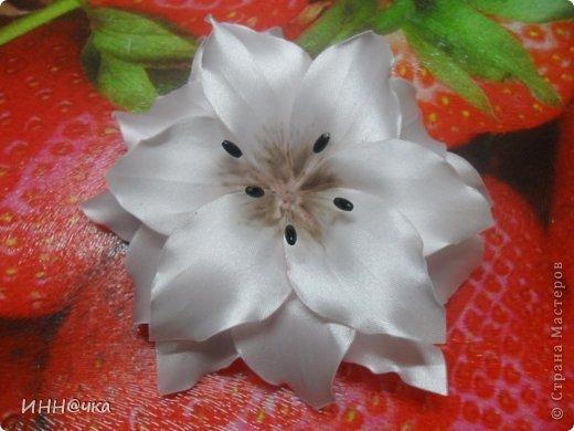 Мастер-класс Цумами Канзаши: МК лилии Ленты, Ткань. Фото 23