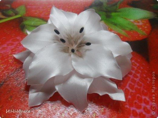 Мастер-класс Цумами Канзаши: МК лилии Ленты, Ткань. Фото 24