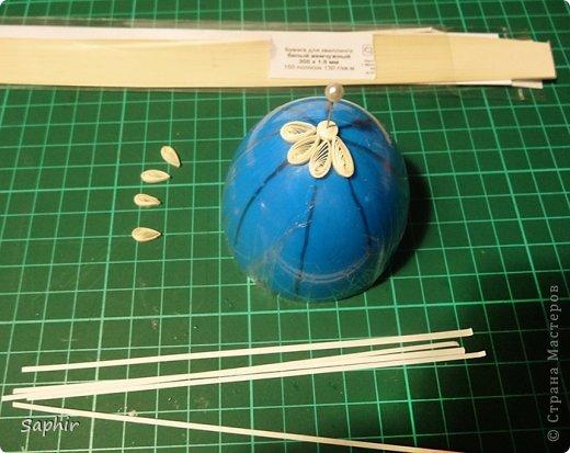 Мастер-класс, Поделка, изделие Квиллинг: Ажурное яичко. Квиллинг. Мастер класс. Бумажные полосы Пасха. Фото 9