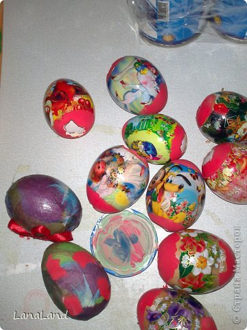 Мастер-класс: яйца,пшеница мини-корзинка Пасха. Фото 12