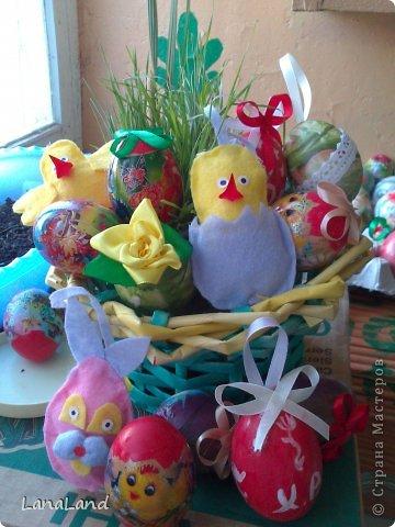 Мастер-класс: яйца,пшеница мини-корзинка Пасха. Фото 18