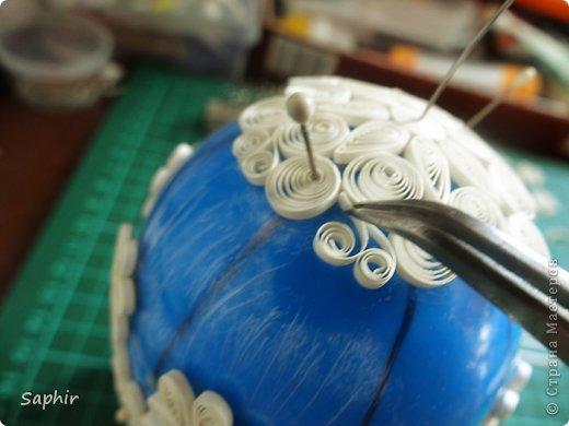 Мастер-класс, Поделка, изделие Квиллинг: Ажурное яичко. Квиллинг. Мастер класс. Бумажные полосы Пасха. Фото 27