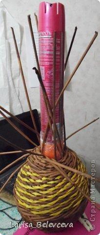 Мастер-класс Плетение: Кувшин руками чайника Бумага газетная, Трубочки бумажные. Фото 16