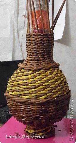 Мастер-класс Плетение: Кувшин руками чайника Бумага газетная, Трубочки бумажные. Фото 17