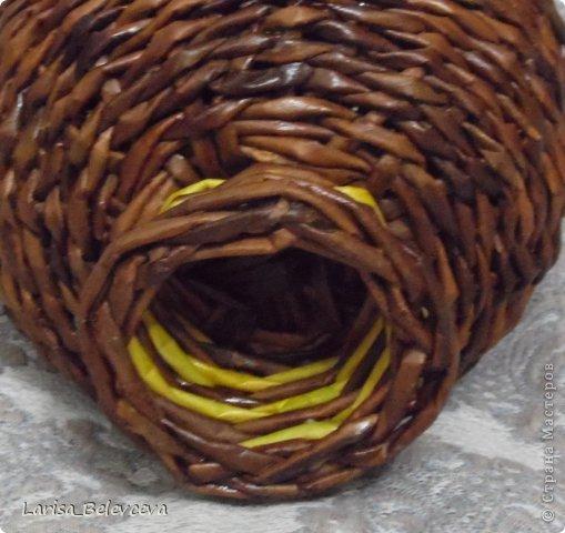 Мастер-класс Плетение: Кувшин руками чайника Бумага газетная, Трубочки бумажные. Фото 9