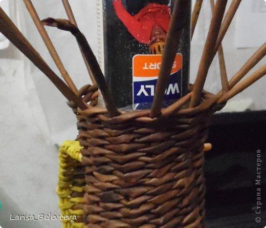 Мастер-класс Плетение: Кувшин руками чайника Бумага газетная, Трубочки бумажные. Фото 22